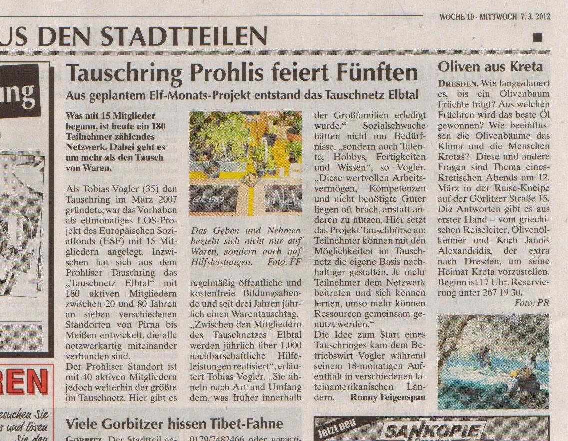 März 2007 Artikel Wochenkurier