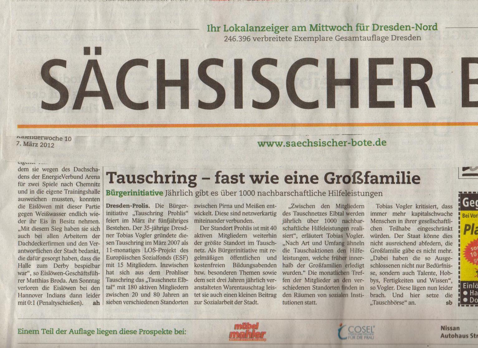 März 2007 Artikel Sächsischer Bote